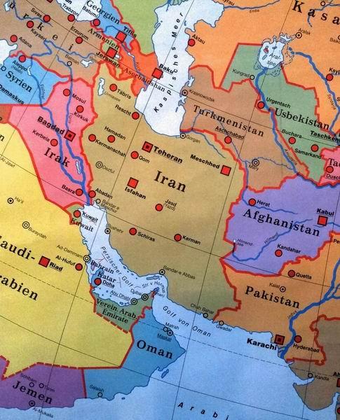 Karte Iran Nachbarlander.Iran Nachbarlander